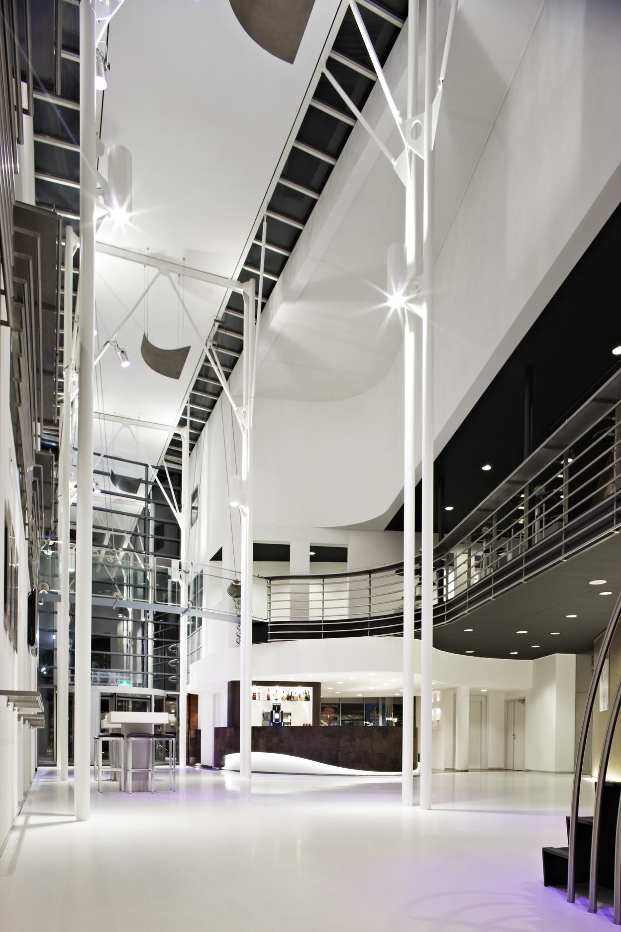 Waalwijk, September 2010. Conversion and refurbishment of the entrance, lobby and theatre by M +R interior Architecture.