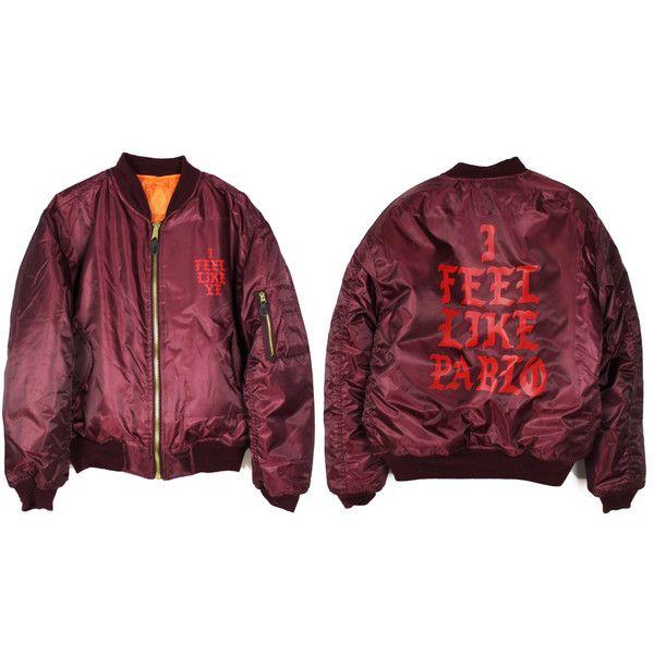 Pablo Yeezus MA-1 Bomber Jacket (€96) ❤ liked on Polyvore featuring outerwear, jackets, tops, bomber jacket, nylon flight jacket, bomber style jacket, purple jacket, nylon jacket and flight bomber jacket