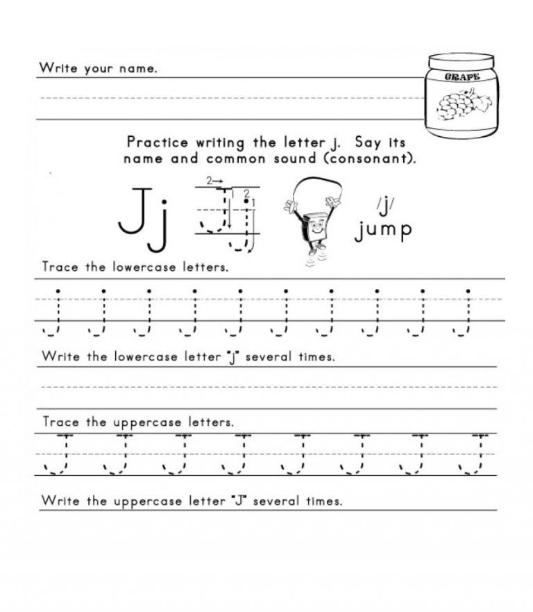 practice writing the letter j | Writing practice ...