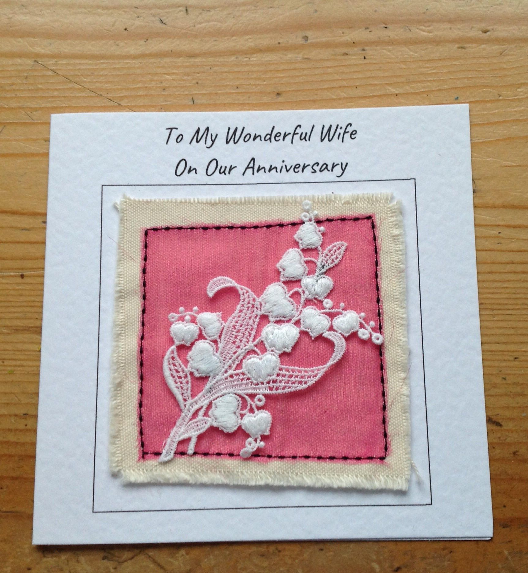 13th anniversary lace card. Anniversary card for husband