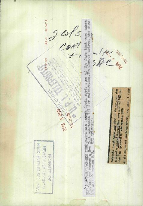 7/08/1962 Préparation des funérailles - Divine Marilyn Monroe
