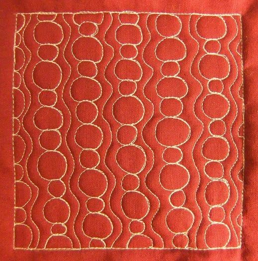 The Free Motion Quilting Project: Day 165 - Bubble Path | Quilt ... : the free motion quilting project - Adamdwight.com