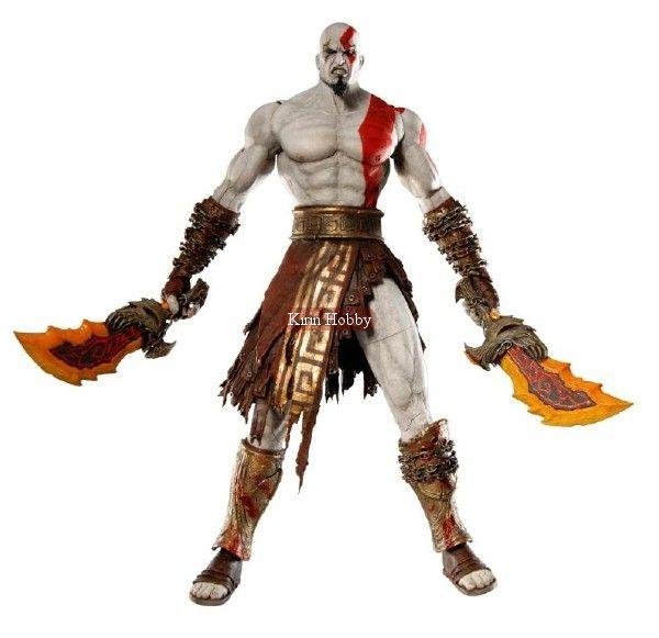 God Of War Ii Kratos Flaming Blades Of Athena Neca With
