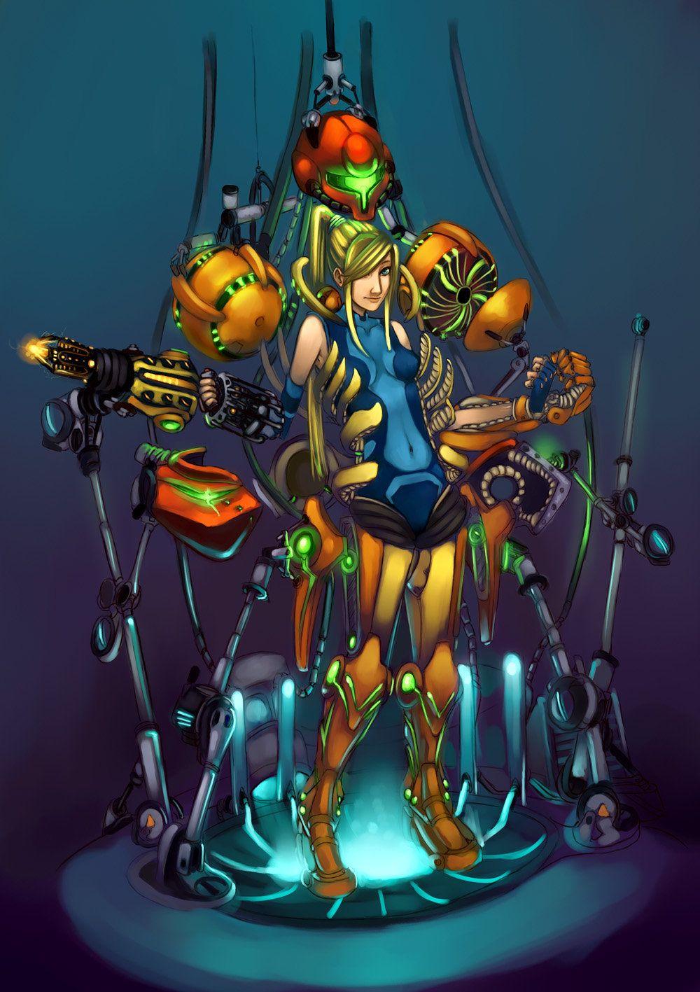 Samus Aran Suit Repairs By Cloud 07 Metroid Samus Samus