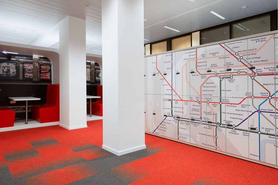 London subway map on lockers locker in 2018 pinterest for Buro design luxembourg