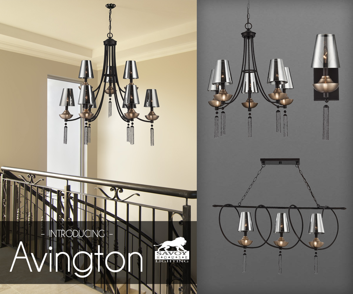 Savoy House Avington A Stunning And Dramatic Lighting Line Designed By Raymond Waites