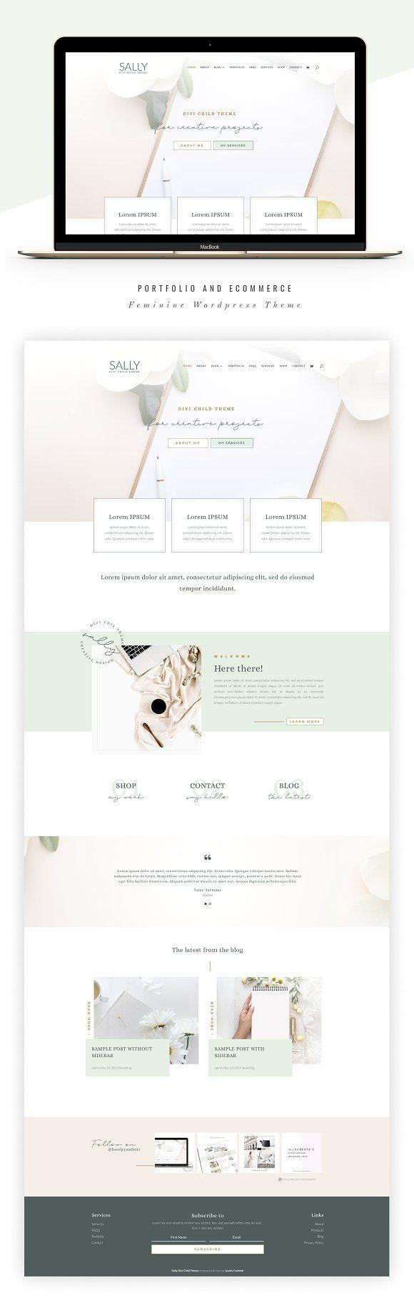 Sally Business Divi Child Theme Website Design Inspiration Website Design Web Design Inspiration