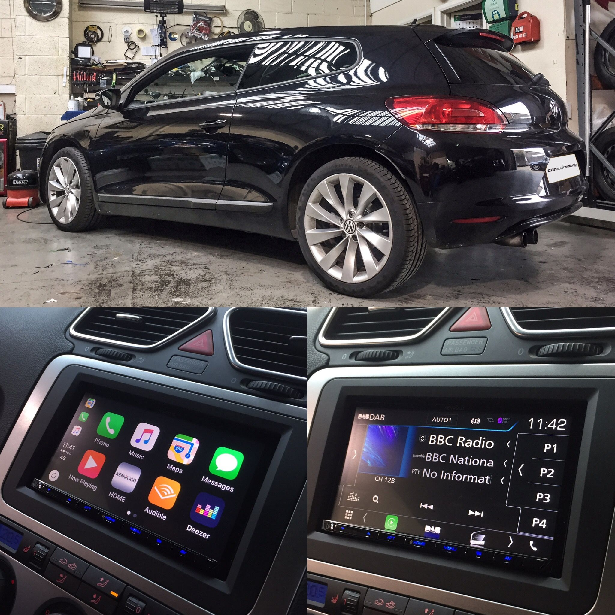 VW Scirocco Double Din Kenwood | Apple Carplay | Spotify