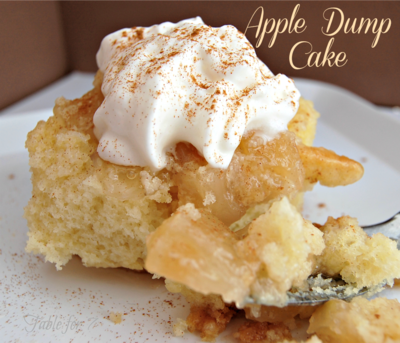 "Mom's Best Apple Dump Cake ""So yummy! Everyone loved it. Sooooooo easy!"""