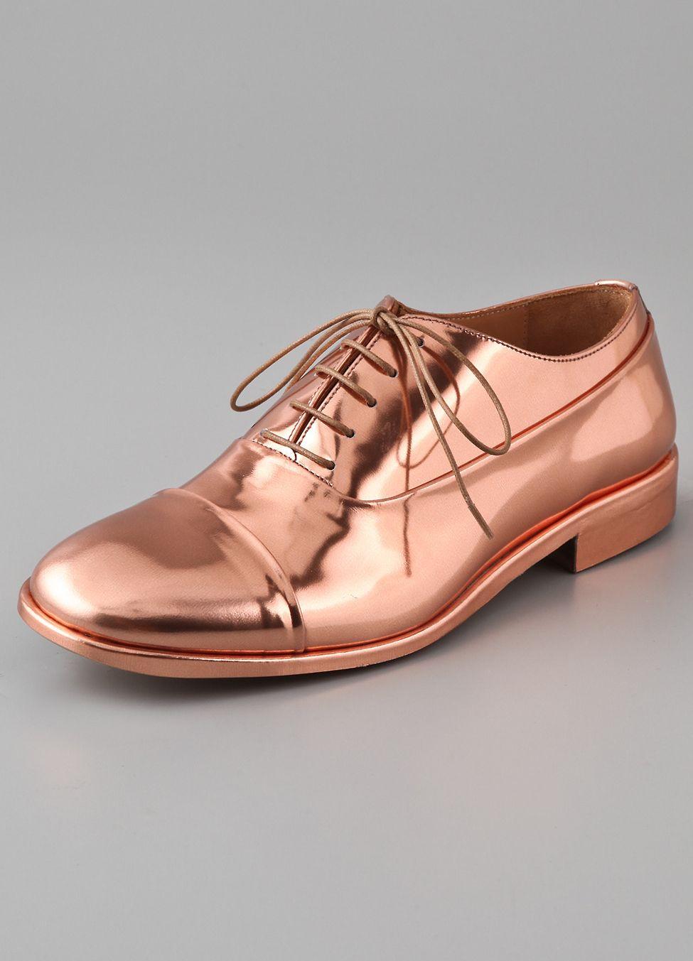 copper lace up dress shoes ~ way cool!