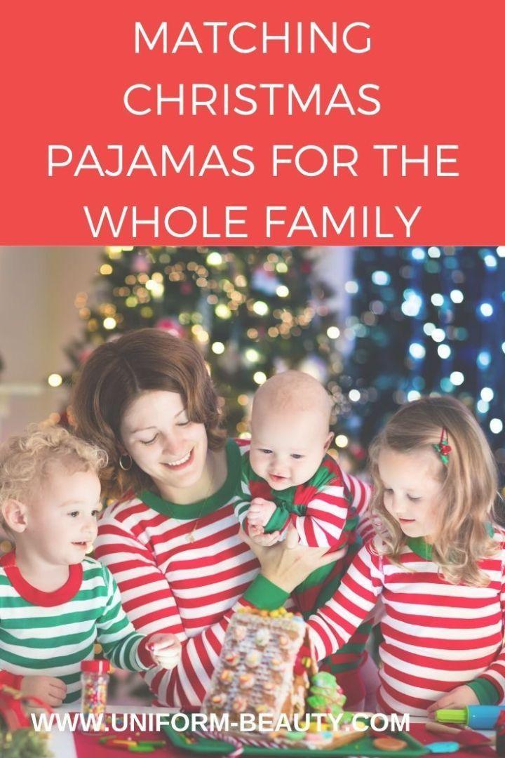 Matching Christmas Pajamas For The Whole Family & Dog