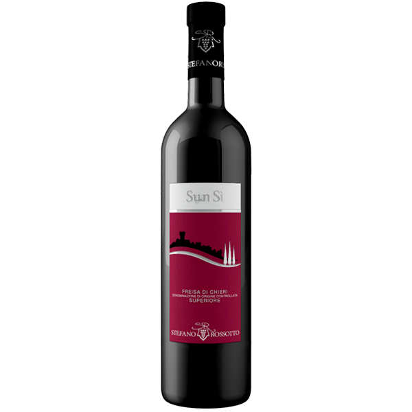 """Freisa di Chieri -- """"Sun Sì"""" is Piemontese dialect for """"Sono qui,"""" which means """"I am here,"""" named so because this wine is so perfectly Piemontese!"""