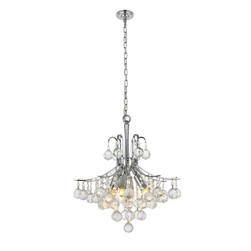 Mcallen 6 Light Crystal Chandelier With Crystal Accents Crystal Chandelier Chandelier Candle Style Chandelier