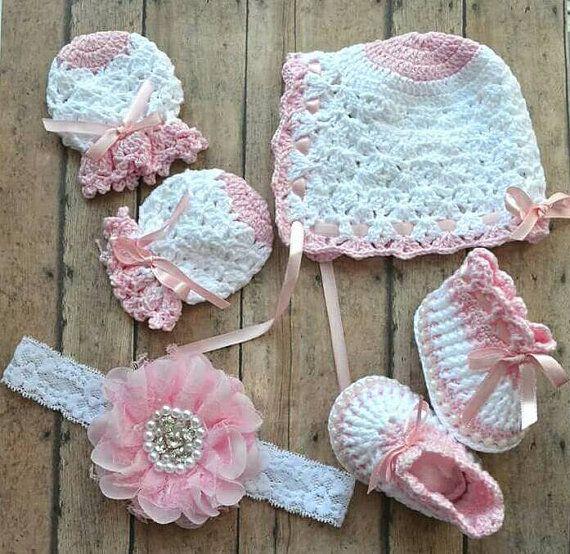Newborn crochet gift set  newborn crochet by TheBlessedBabies