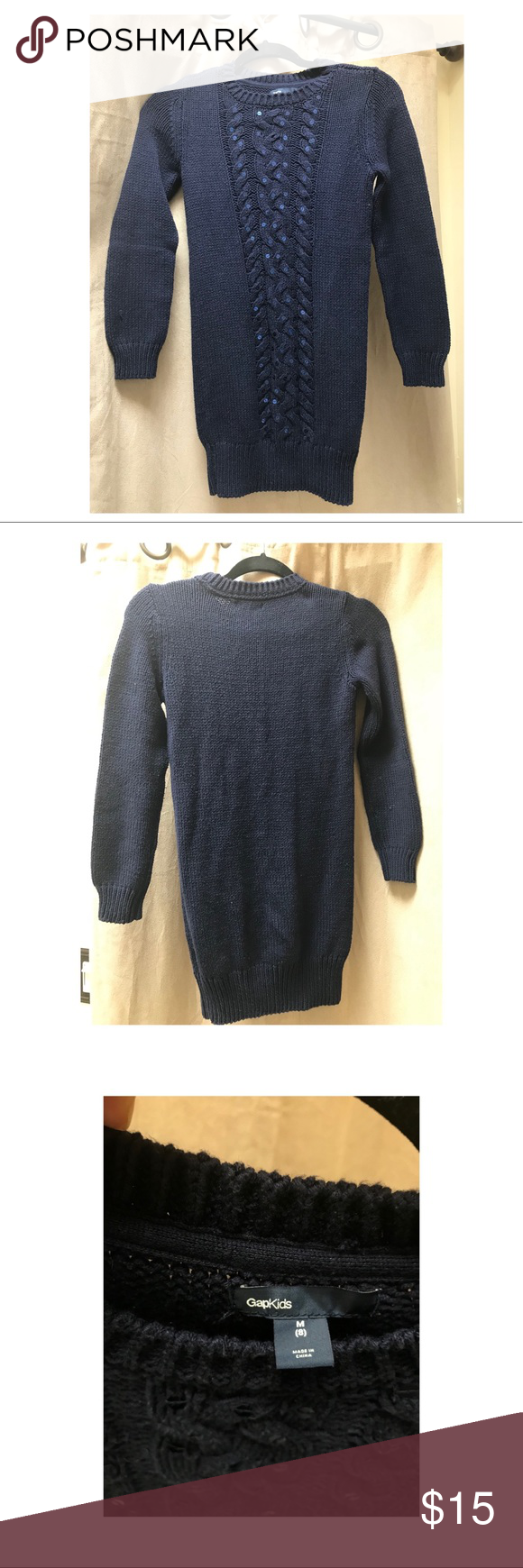 Girls Navy Blue Sweater Dress Gap Kids Navy Blue Sweater Dress ...