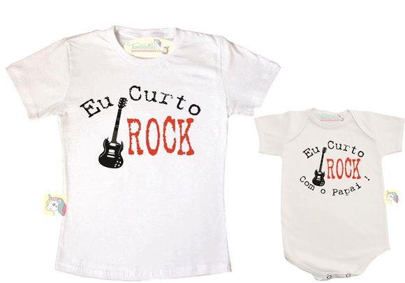 007535d8c55b Kit Eu curto rock com o papai. Kit Eu curto rock com o papai Tal Pai ...