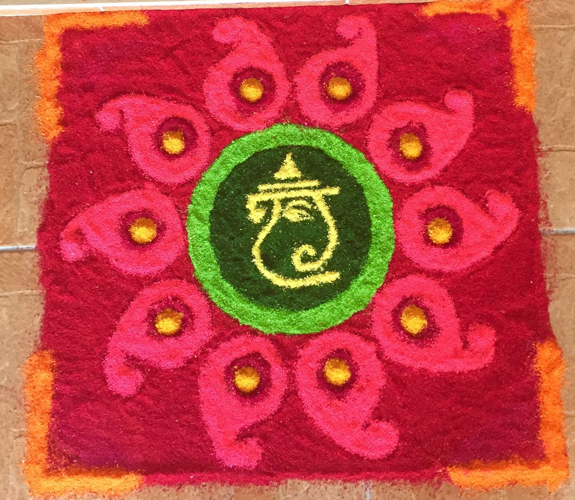 Pin By Mmc On Kolam Simple Rangoli Christmas Tree Skirt Holiday Decor
