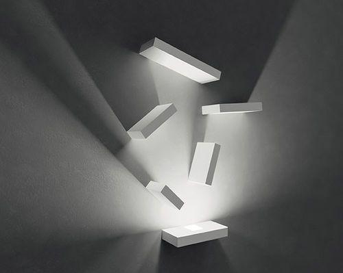 Applique moderna rettangolare in vetro borosilicato in vetro