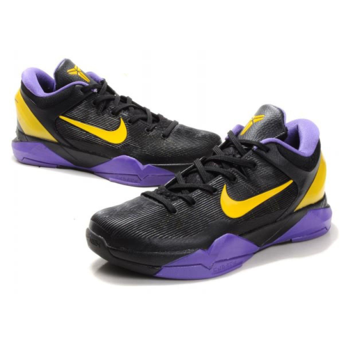 Nike Zoom Kobe VII Basketball Shoes Kobe Bryant Shoes Black Purple Gold .