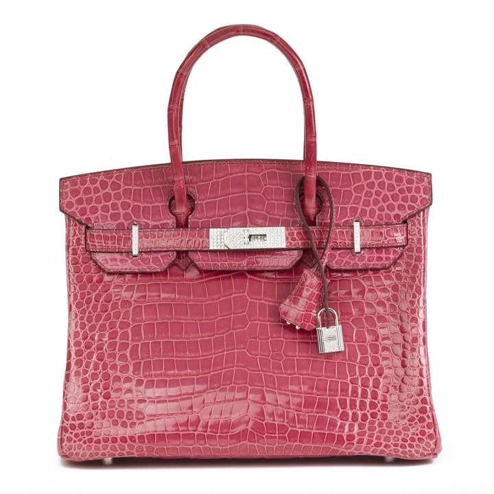 e36c23a5220c Hermes Birkin 30 Pink Crocodile Handbag in 2019