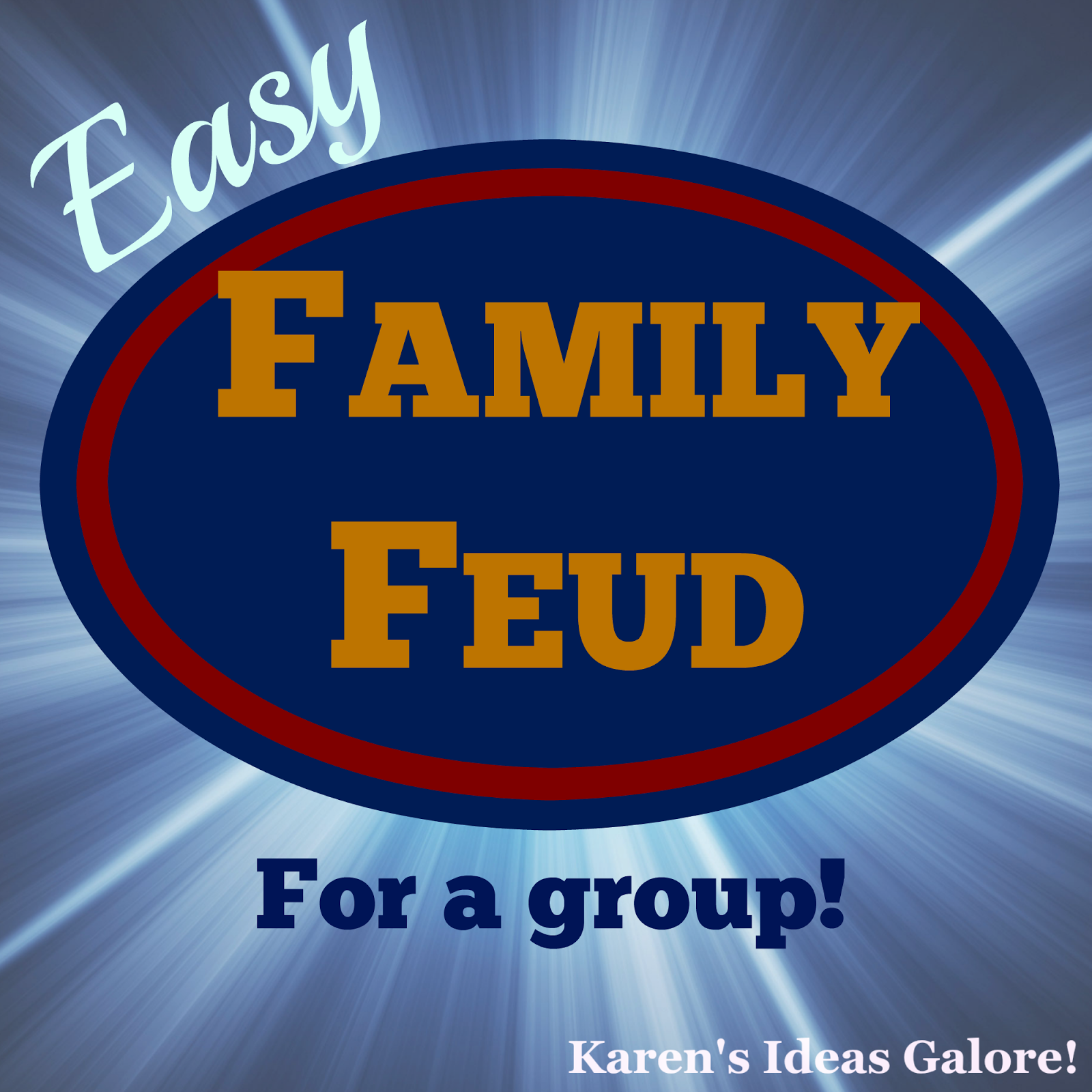 Easy Family Feud For A Group | games | Family games, Family