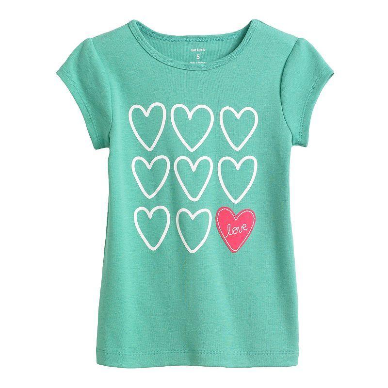 Carter's Love Tee - Girls 4-6x, Green