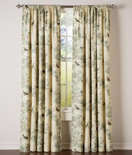 Aviary Lined Rod Pocket Curtains Country Curtains Curtains