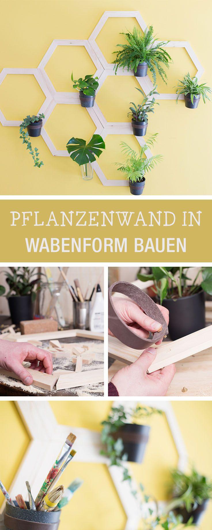 DIY-Anleitung: Pflanzenwand in Wabenform bauen via DaWanda.com ...
