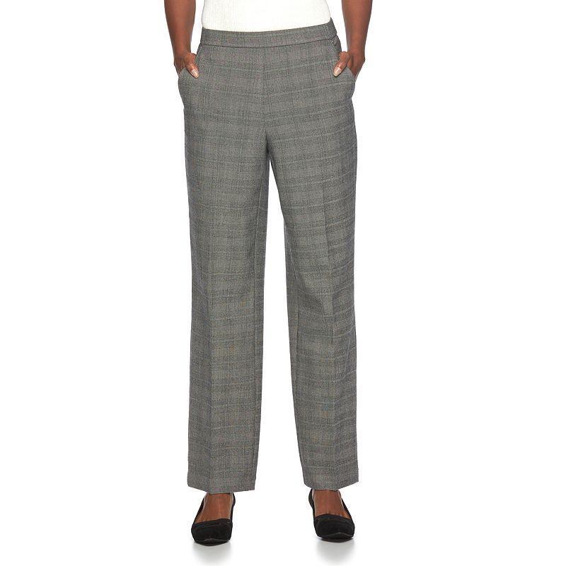 Women's Dana Buchman Comfort-Waist Plaid Dress Pants, Size: