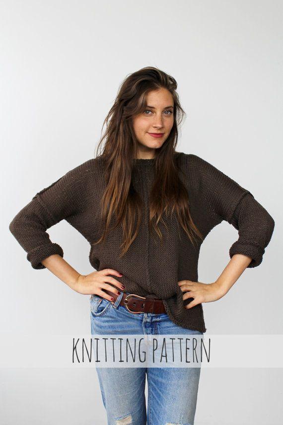 df0ecca42b3355 PATTERN for Drop Sleeve Inside Out Lightweight Summer Sweater    Weekend  Slouchy Sweater PATTERN
