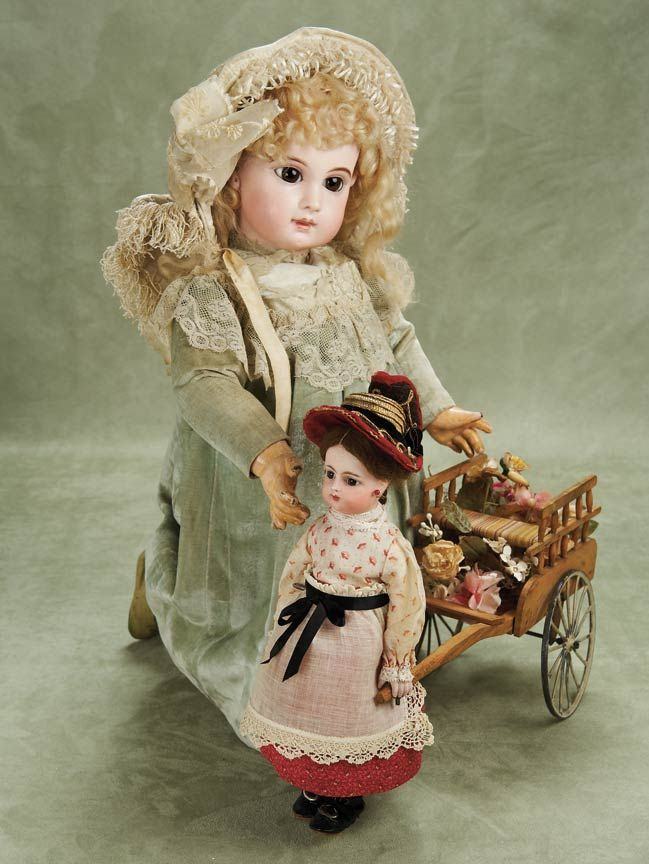"""Very Beautiful French Bisque Bebe E.J. by Jumeau,Size 11,with Fabulous Costume 25"""" (64 cm.)"""