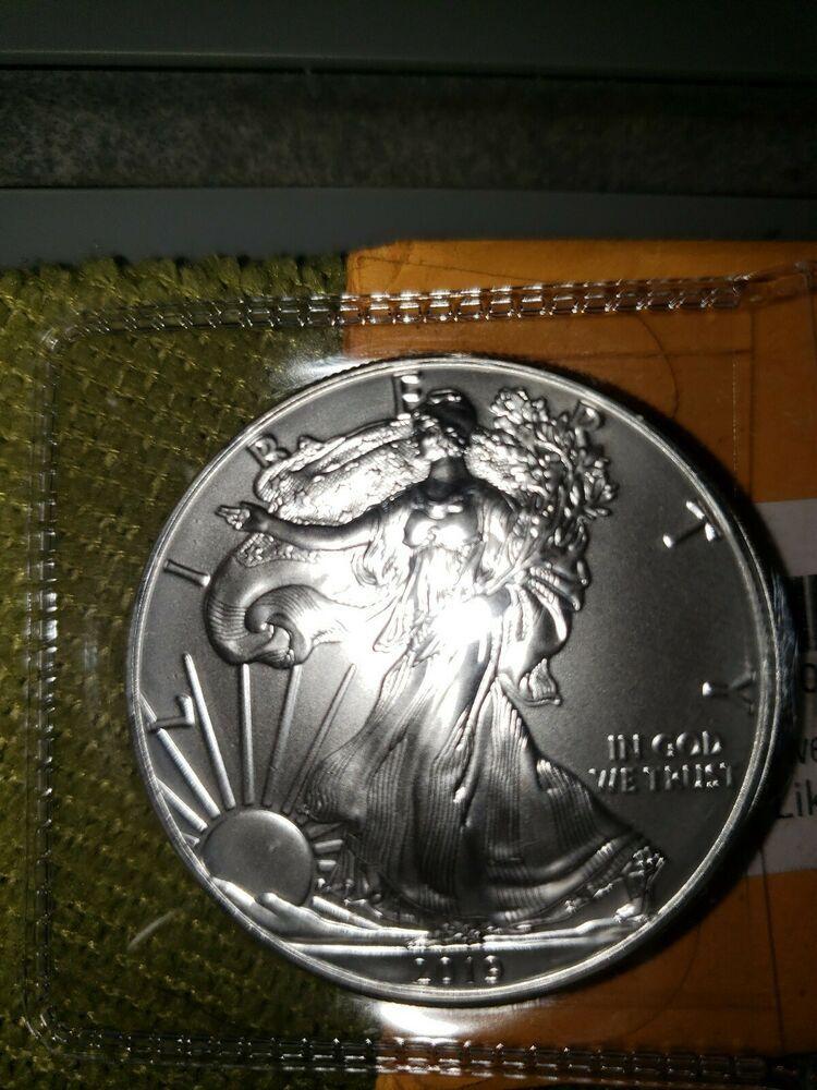 2019 1 Oz Fine American Eagle Silver Dollar Coin Brilliant Uncirculated Mint Silver Dollar Coin Dollar Coin Silver Krugerrand
