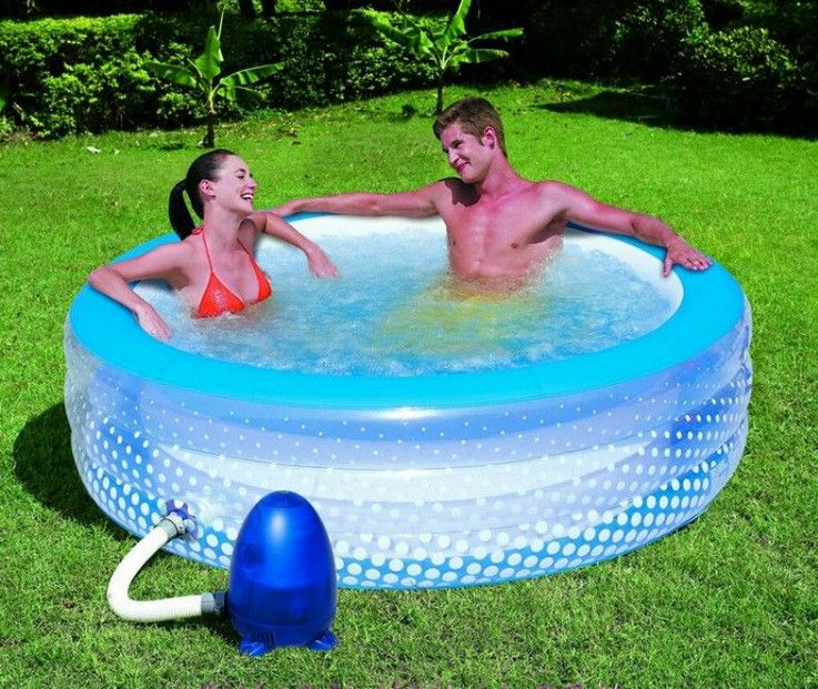 Round Inflatable Pool Pool Design Ideas Inflatable Pool Diy Swimming Pool Pool