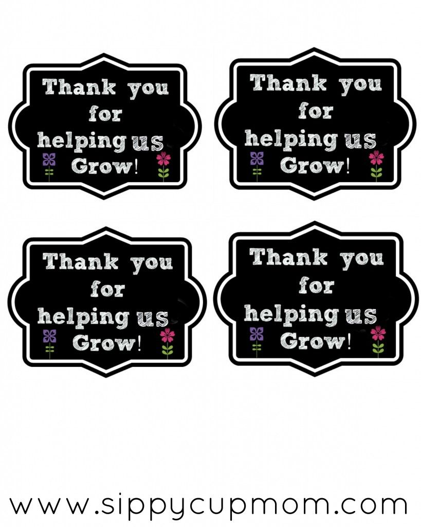Thank You For Helping Me Grow Printable 40 Teacher Appreciation