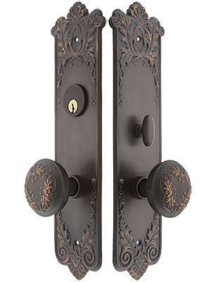 Lorraine pattern mortise entry set in oil rubbed bronze - How to clean exterior brass door handles ...