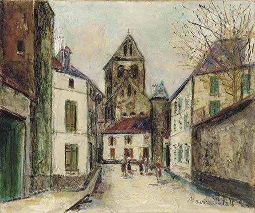 Maurice Utrillo, Eglise d'Auvers-sur-Oise