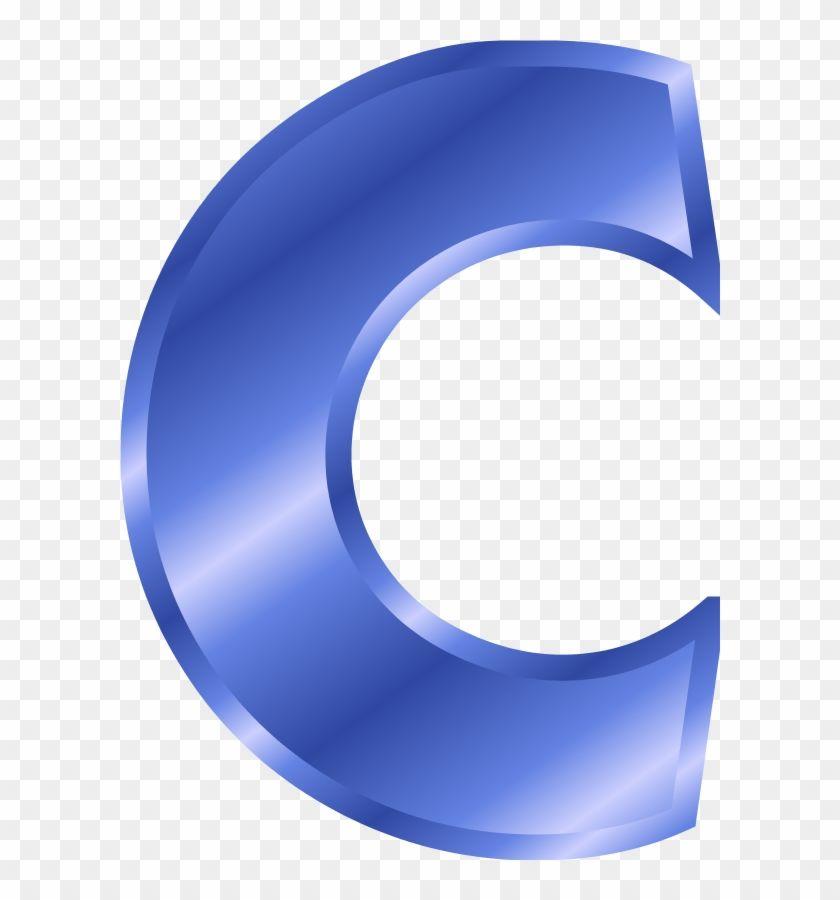 Letter C Lettering Clip Art Blue Color