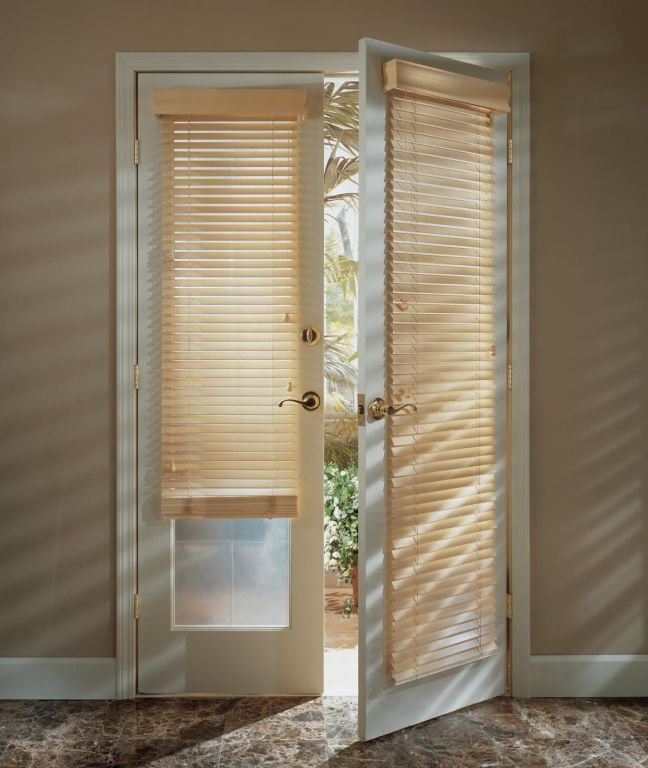 wood door blinds. wood blinds on french doors door