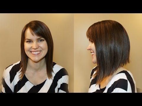 Wondrous How To Cut Womens Hair Dramatic Bob Haircut Youtube Hair Short Hairstyles Gunalazisus