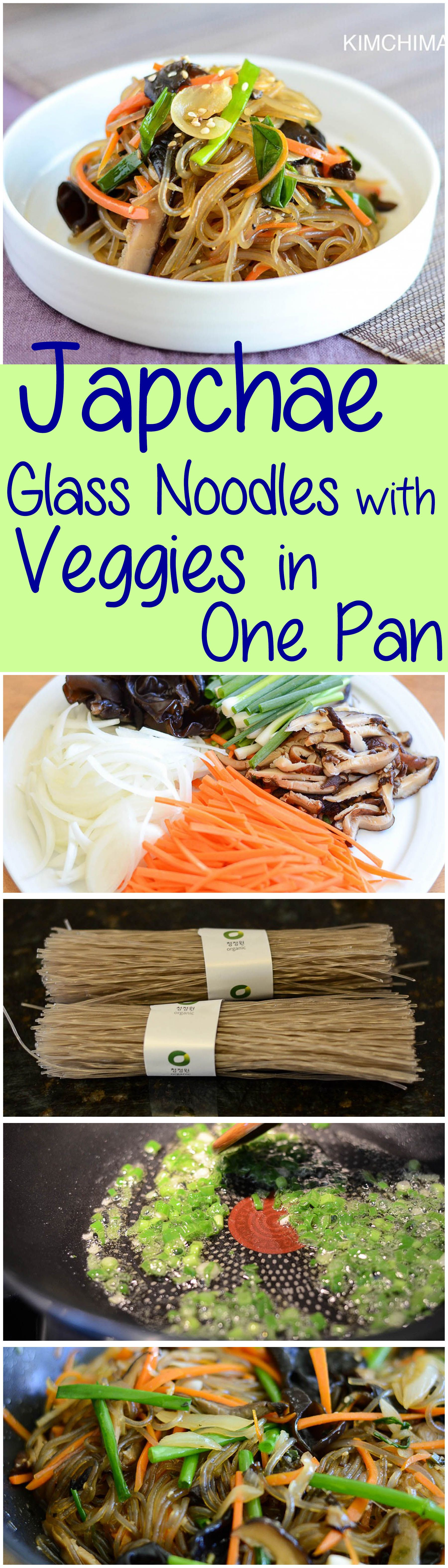 One pan korean japchae simply made with glass noodles mushrooms and one pan korean japchae simply made with glass noodles mushrooms and veggies delicious and healthy it is a meal on its own kimchimari forumfinder Image collections