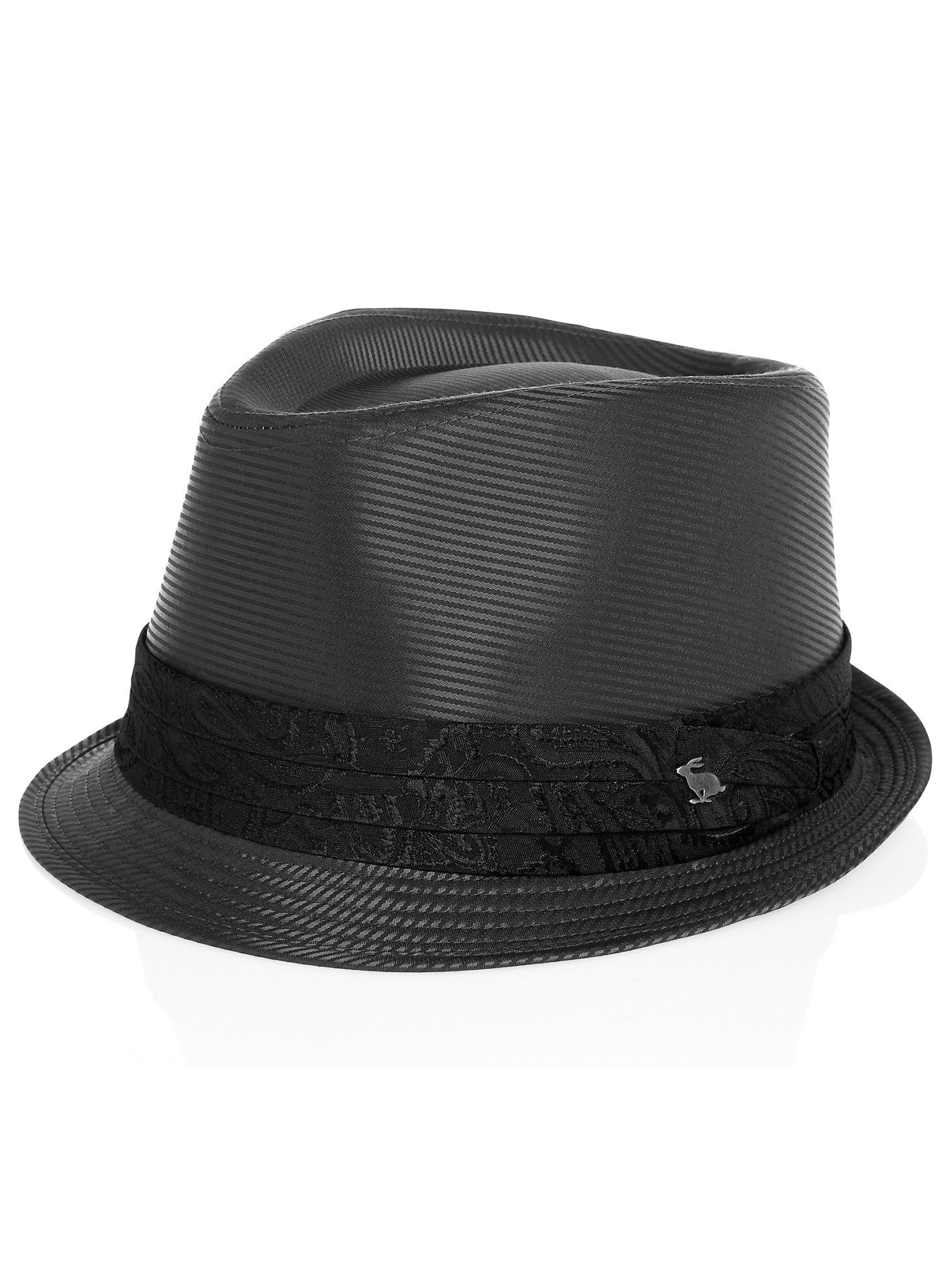 8a14ac1afac Accessories - Peter Grimm Gray Stripe Fedora - Men s Wearhouse Popular Hats