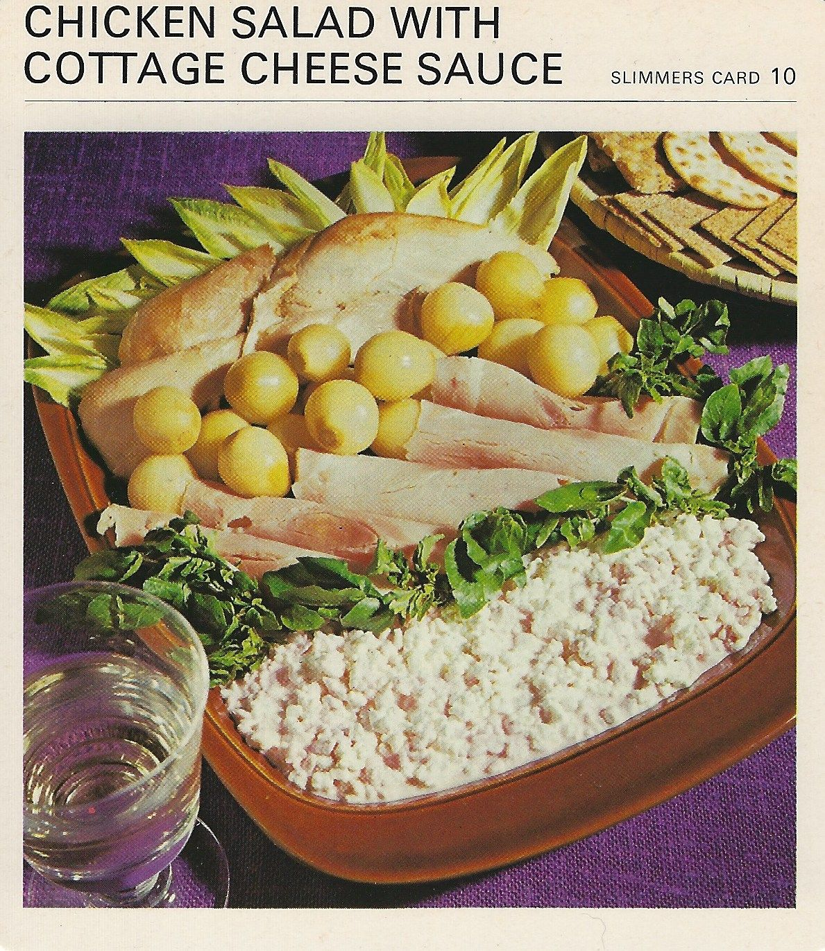 Chicken salad with cottage cheese sauce vintage recipe cards chicken salad with cottage cheese sauce vintage recipe cards forumfinder Gallery