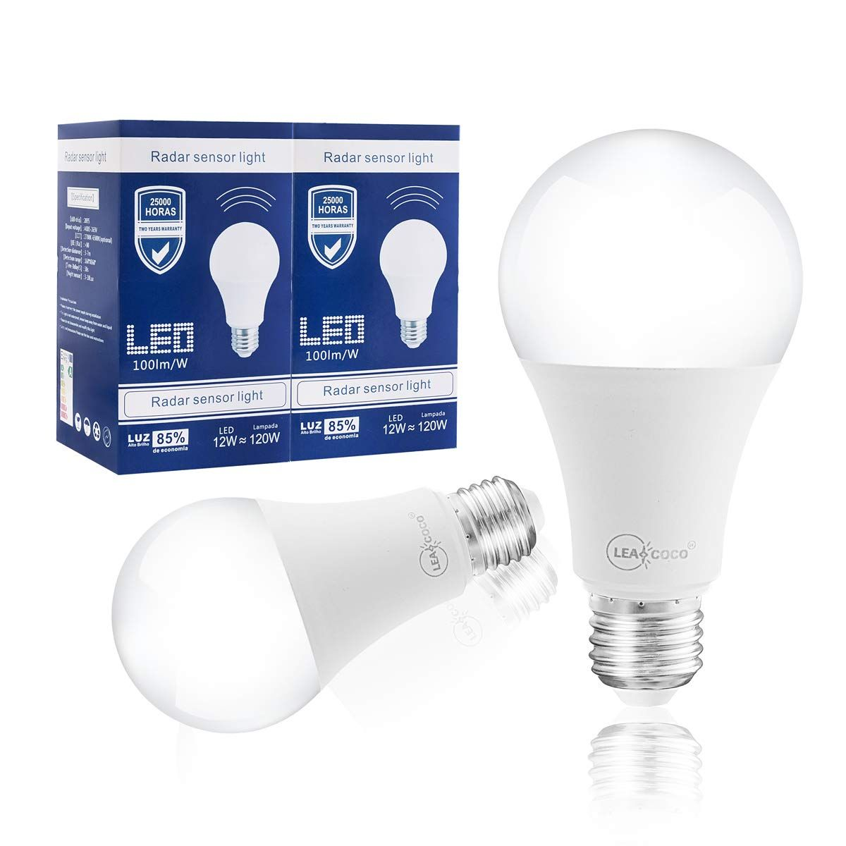 Motion Sensor Light Bulb 12w Dusk To Dawn Lighting Lamp 120w Equivalent Smart Bulb Radar Motion Sensor Light Bulbs With Images Light Sensor Motion Sensor Lights Light Bulb
