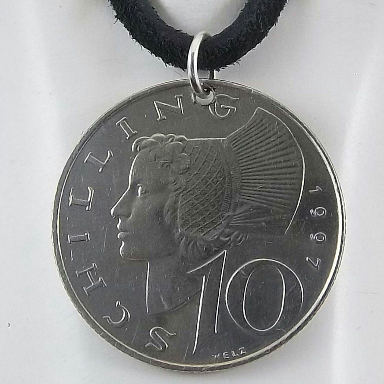 Necklace Made With A 1997 Austrian Coin Coin Necklace Men S
