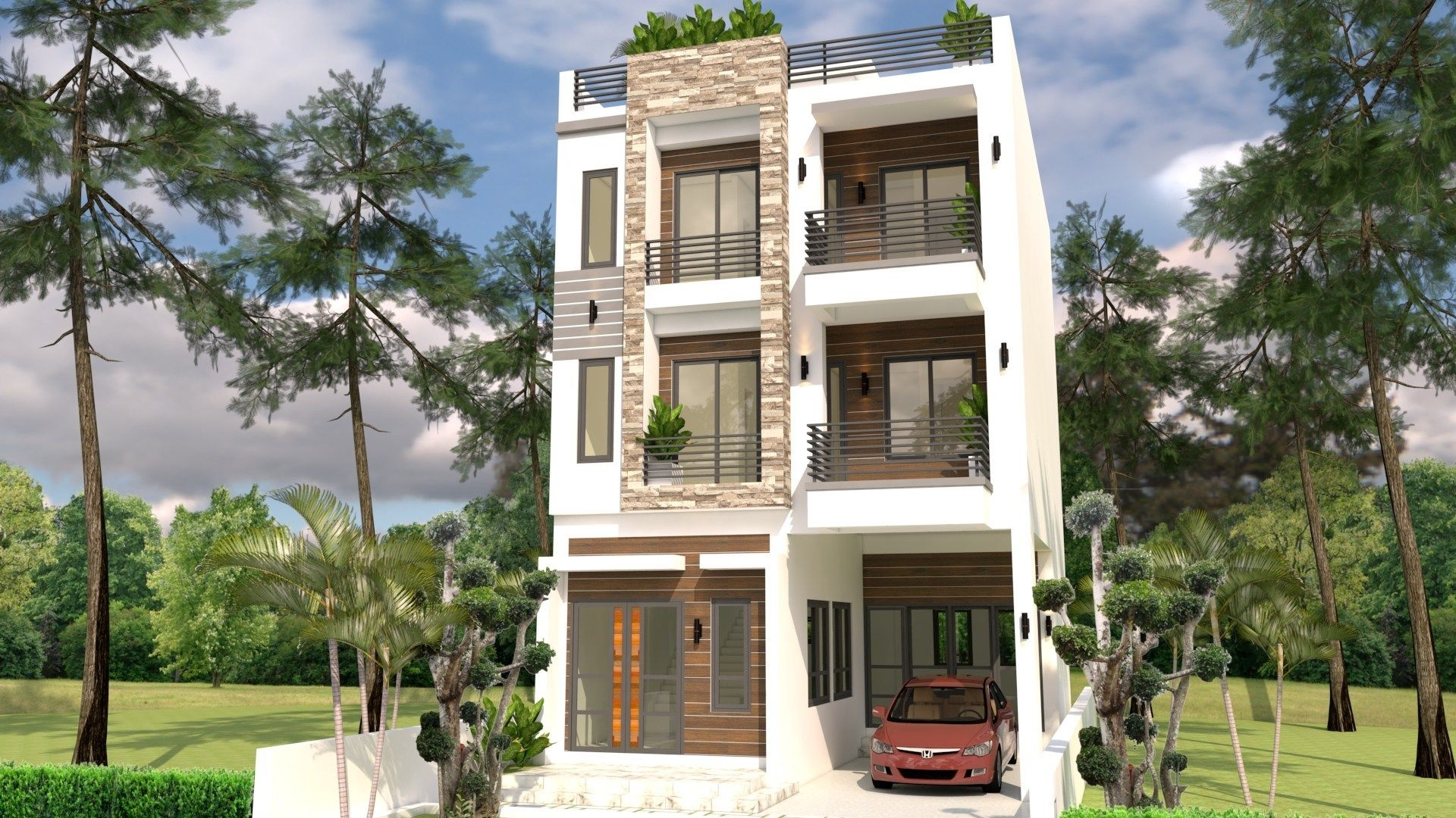 Home Design Plan 7x10m With 6 Bedrooms Cool House Designs Home Design Plan Narrow House Designs