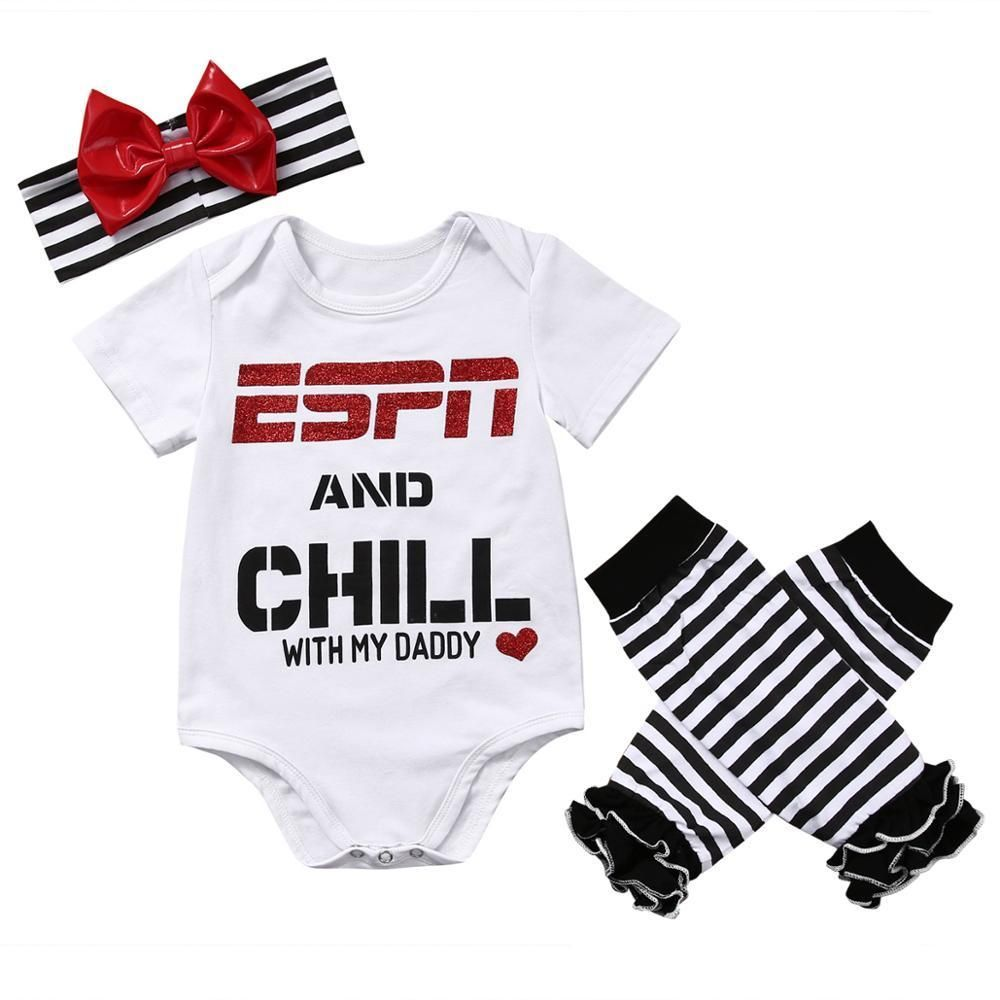 Espn And Chill With Daddy Romper Buy It Today From Www Presentbaby