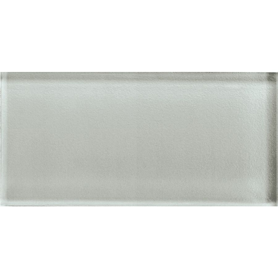 Allen roth glazed wall chocolate ceramic bullnose trim common 1 - American Olean Color Appeal Silver Cloud Glass Wall Tile Common 3 In X