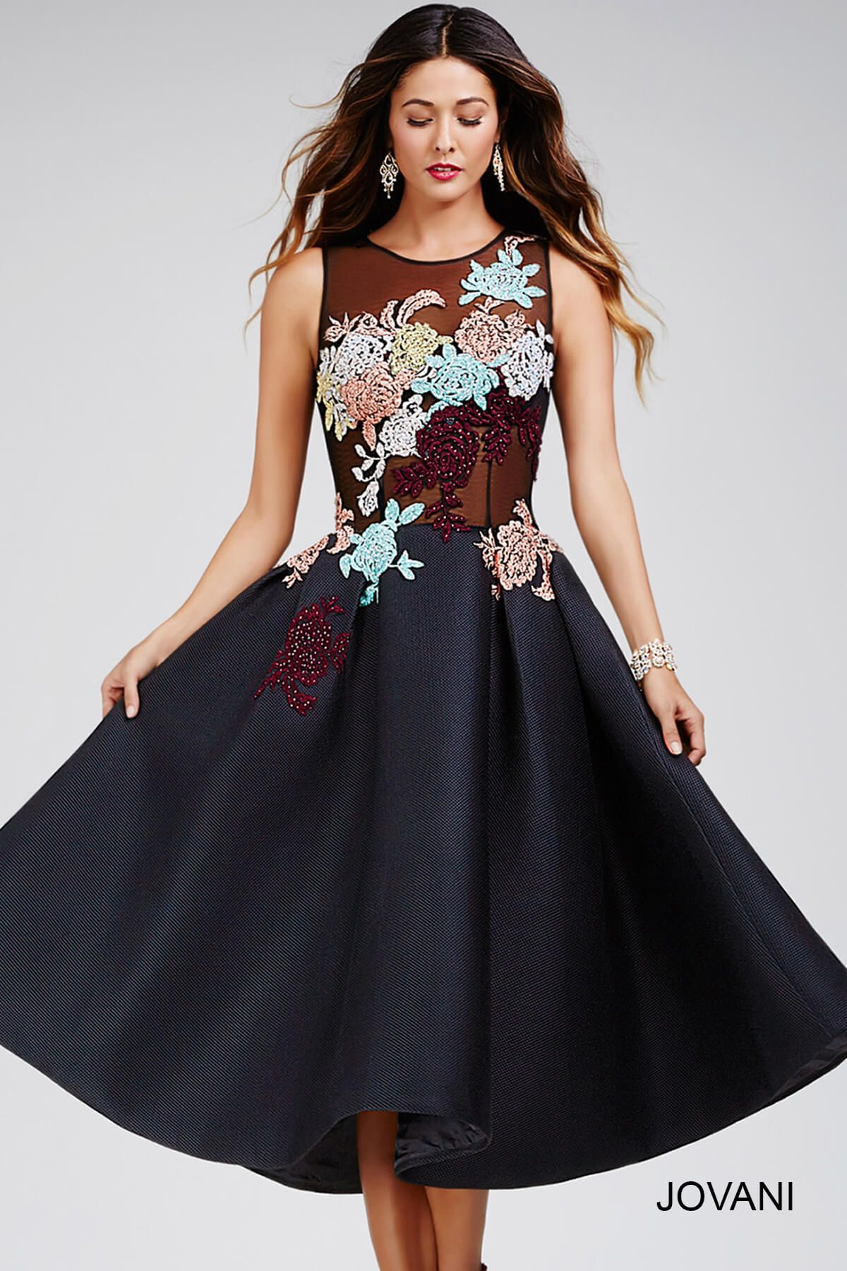 Black dress under knee - Find This Pin And More On Perfect Prom 2016 Cocktail Dresses Black Below The Knee