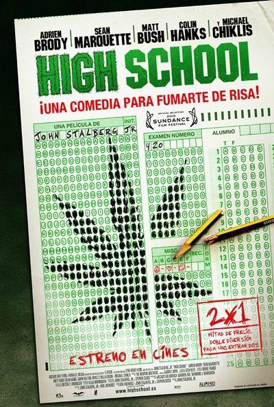 """En la película """"High school"""", el día antes de lograr la beca al mejor estudiante de su promoción, Henry Burke se atreve a probar por primera vez la marihuana. Es el fin del año escolar en el instituto Morgan, y el director Leslie Gordon decide organizar un test de drogas obligatorio para todos los alumnos. No pasar el… Para más info: http://www.madridxanadu.com/index.php?option=com_content=view=849=58_source=pinterest_medium=cinessa_campaign=estrenos%2Bcine"""