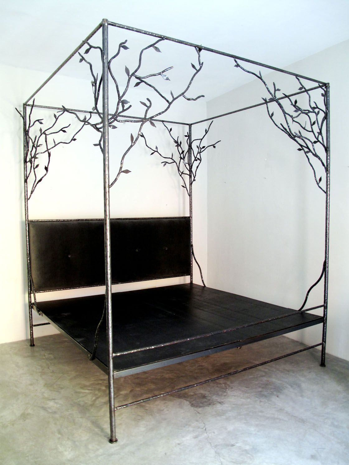 Canopy Bed In Wrought Iron By Casamidyt Tree Bed Iron Bed Frame